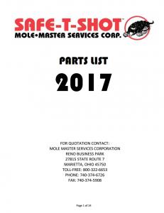 STS Parts List thumb