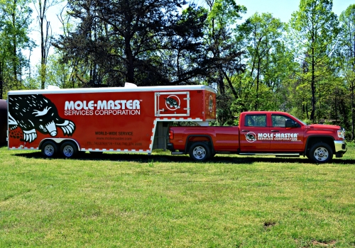 1 Red Truck and Trailer